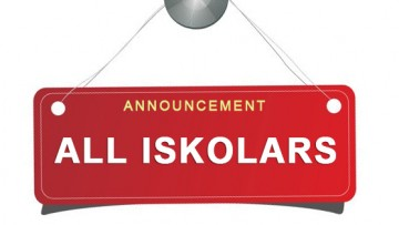 Announcement – All Iskolars