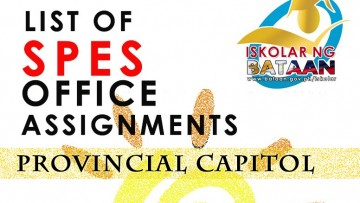 LIST OF SPES OFFICE ASSIGNMENTS – PROVINCIAL CAPITOL