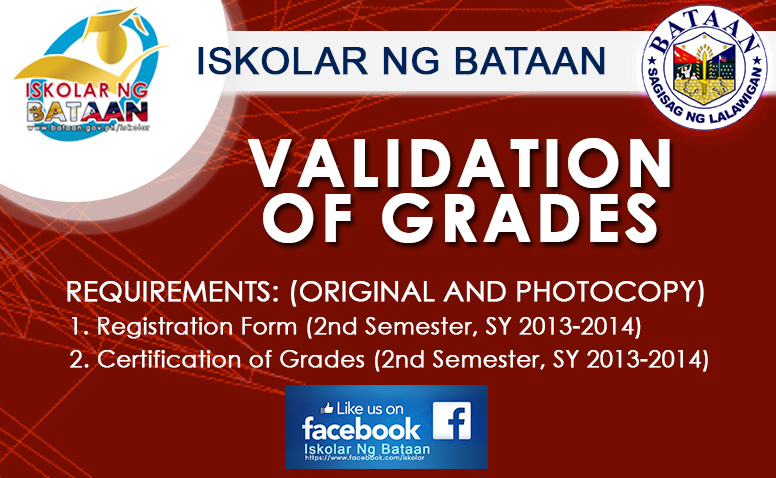 Iskolar Ng Bataan Validation of Grades