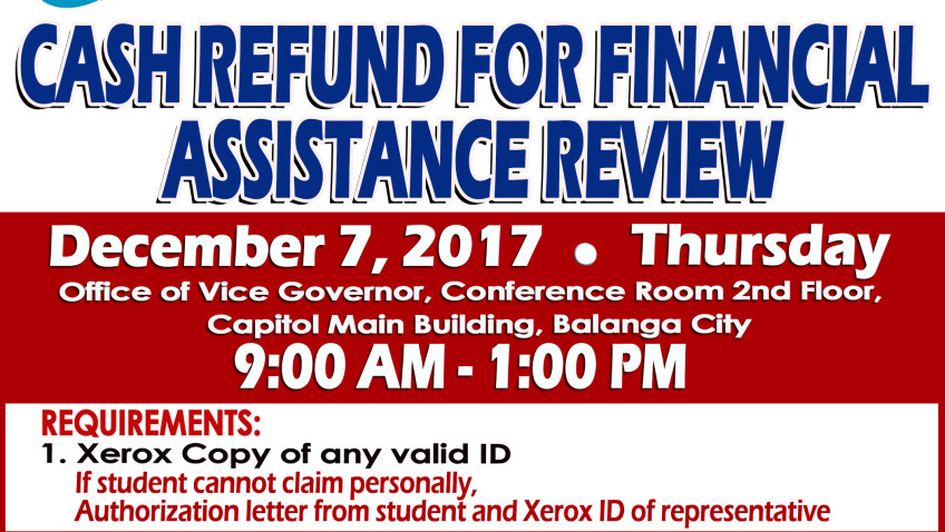 List of Cash Refund For Financial Assistance Review 2017 (1st Batch)