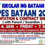 SPES Bataan 2018 Orientation and Contract Signing.