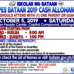 SPES Bataan 2019 Cash Allowance